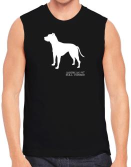 American Pit Bull Terrier Stencil / Chees Sleeveless