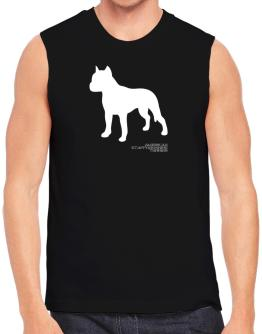 American Staffordshire Terrier Stencil / Chees Sleeveless