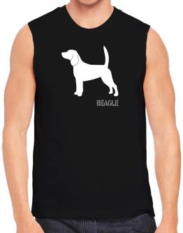 Beagle Stencil / Chees Sleeveless