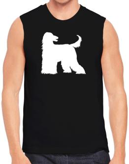 Afghan Hound Silhouette Embroidery Sleeveless