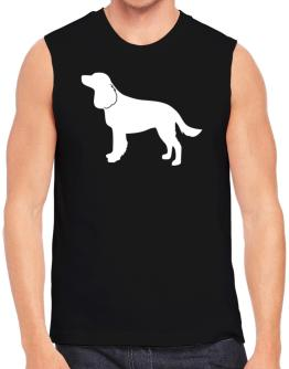 American Water Spaniel Silhouette Embroidery Sleeveless