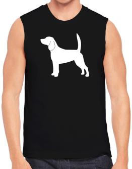 Beagle Silhouette Embroidery Sleeveless