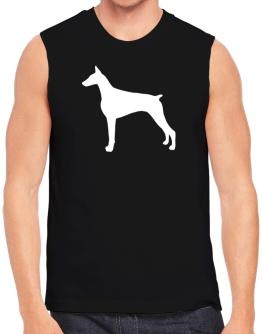 Doberman Pinscher Silhouette Embroidery Sleeveless