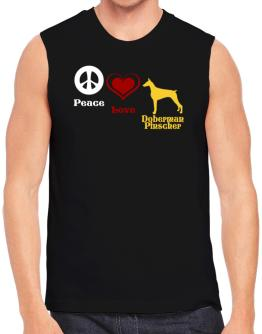 Peace, Love, Doberman Pinscher Sleeveless