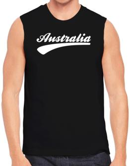 Australia - Baseball Font Sleeveless