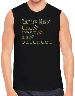 Polo Sin Mangas de Country Music The Rest Is Silence...