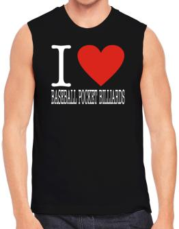 I Love Baseball Pocket Billiards Classic Sleeveless