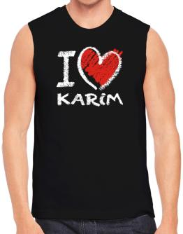 I love Karim chalk style Sleeveless