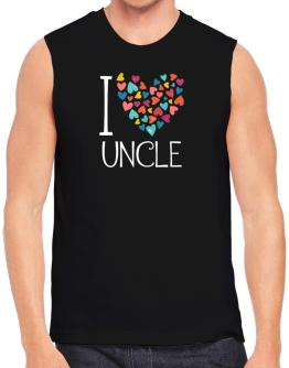 I love Auncle colorful hearts Sleeveless