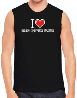 I love Belgian Shepperds Malinois pixelated Sleeveless