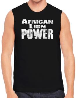 African Lion power Sleeveless