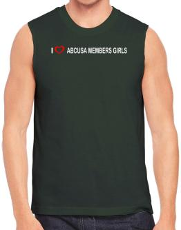 I love Abcusa Members Girls Sleeveless