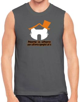 Home Is Where California Spangled Cat Is Sleeveless