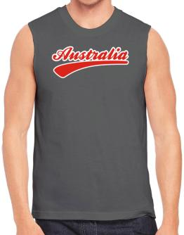Australia - Baseball Font Outlined Sleeveless