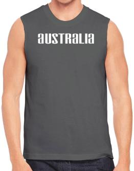 Australia Simple Word Sleeveless