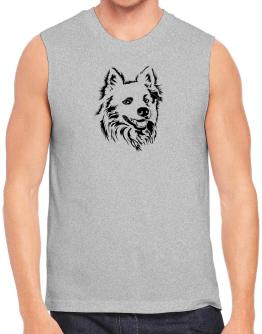 American Eskimo Dog Face Special Graphic Sleeveless