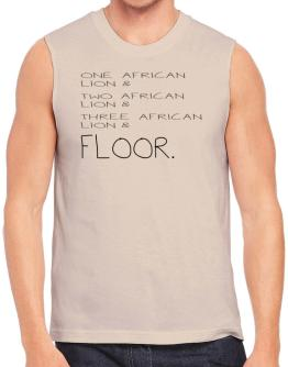 One African Lion and two African Lion and African Lion and floor Sleeveless