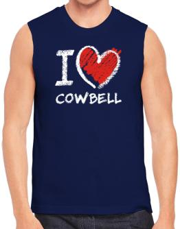 I love Cowbell chalk style Sleeveless