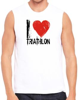 I Love Triathlon Sleeveless