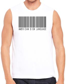 American Sign Language Barcode Sleeveless