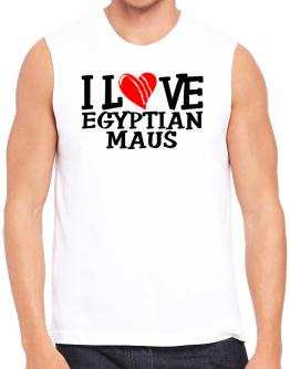 I Love Egyptian Maus - Scratched Heart Sleeveless