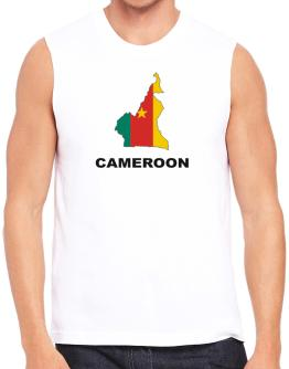 Cameroon - Country Map Color Sleeveless