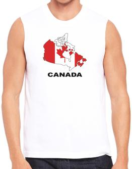 Canada - Country Map Color Sleeveless