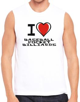 I Love Baseball Pocket Billiards Sleeveless
