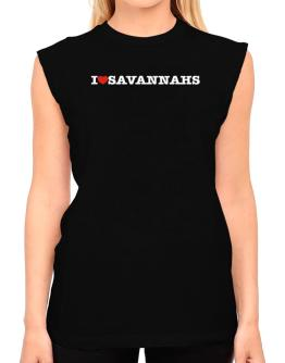 I Love Savannahs T-Shirt - Sleeveless-Womens