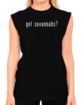 Got Savannahs? T-Shirt - Sleeveless-Womens