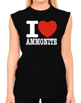 I Love Ammonite T-Shirt - Sleeveless-Womens