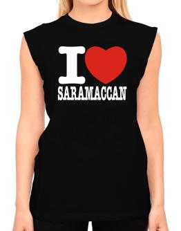 I Love Saramaccan T-Shirt - Sleeveless-Womens
