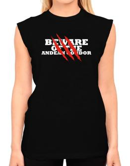Beware Of The Andean Condor T-Shirt - Sleeveless-Womens