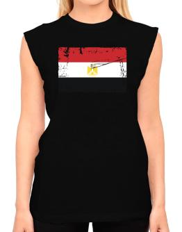 """ Egypt - Vintage Flag "" T-Shirt - Sleeveless-Womens"