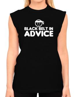 Black Belt In Advice T-Shirt - Sleeveless-Womens
