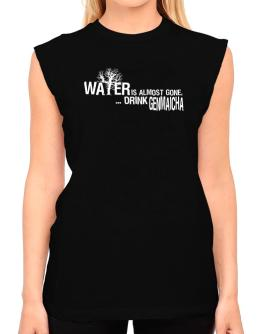 Water Is Almost Gone .. Drink Genmaicha T-Shirt - Sleeveless-Womens