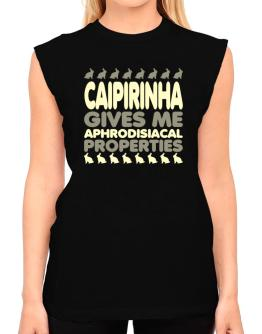 Caipirinha Gives Me Aphrodisiacal Properties T-Shirt - Sleeveless-Womens