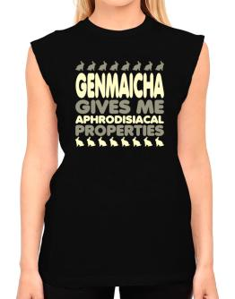 Genmaicha Gives Me Aphrodisiacal Properties T-Shirt - Sleeveless-Womens