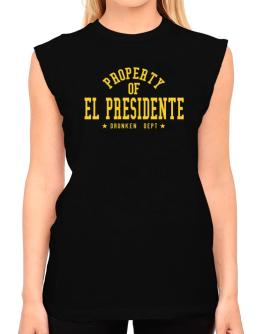 Property Of El Presidente - Drunken Department T-Shirt - Sleeveless-Womens