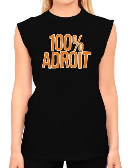 100% Adroit T-Shirt - Sleeveless-Womens