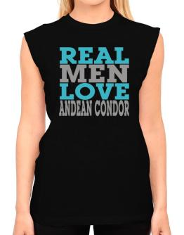 Real Men Love Andean Condor T-Shirt - Sleeveless-Womens
