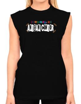 My Best Friend Is An Andean Condor T-Shirt - Sleeveless-Womens