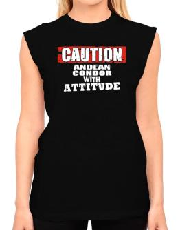 Caution - Andean Condor With Attitude T-Shirt - Sleeveless-Womens
