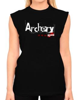 Archery Is In My Blood T-Shirt - Sleeveless-Womens