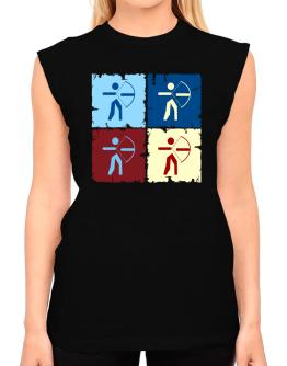 Archery - Pop Art T-Shirt - Sleeveless-Womens
