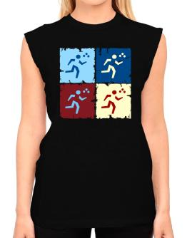 Triathlon - Pop Art T-Shirt - Sleeveless-Womens