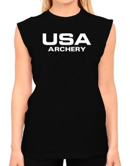 Usa Archery / Athletic America T-Shirt - Sleeveless-Womens