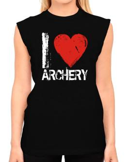 I Love Archery T-Shirt - Sleeveless-Womens