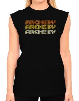 Archery Retro Color T-Shirt - Sleeveless-Womens