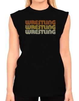 Wrestling Retro Color T-Shirt - Sleeveless-Womens